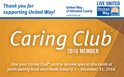 Caring Club Card 2016